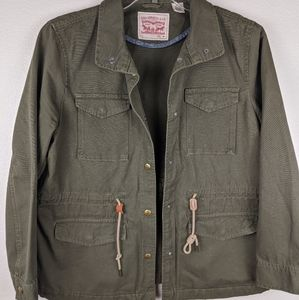 Levi's vintage green army jacket size large